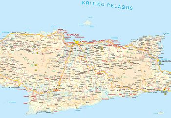Heraklion Prefecture Map